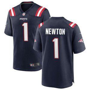 New England Patriots Cam Newton Navy Jersey